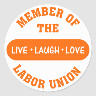 Volunteering to help others is a labor of love round stickers