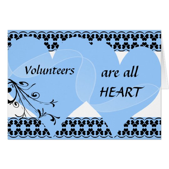 Volunteers Are All Heart Thank You Card