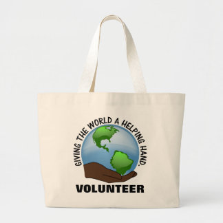 Volunteers are the world's helping hands tote bag