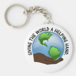 Volunteers are the world's helping hands keychains