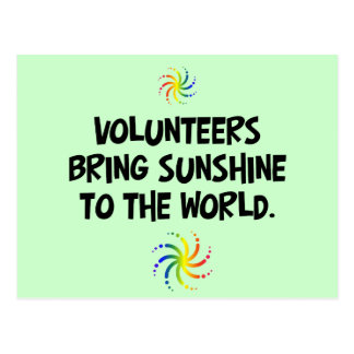 Volunteers bring sunshine to the world post cards