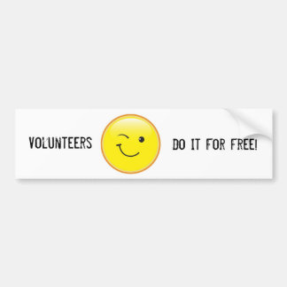 Volunteers Bumper Sticker