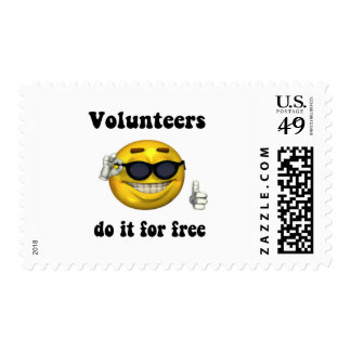 Volunteers do it for free stamp