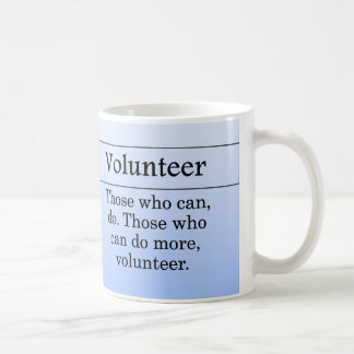Volunteers do more for others classic white coffee mug