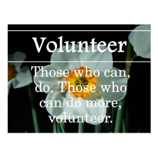 Volunteers do more for others postcards