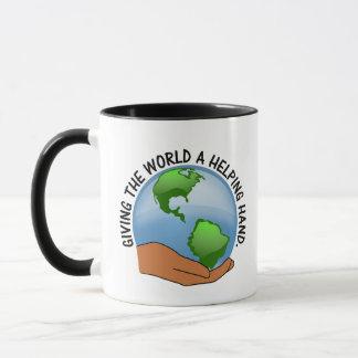Volunteers give the world a helping hand mug