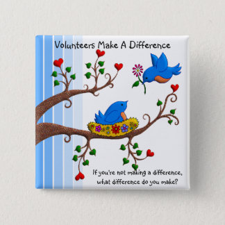 Volunteers Make A Difference Button