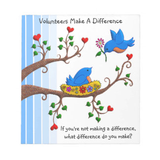 Volunteers Make A Difference Notepad