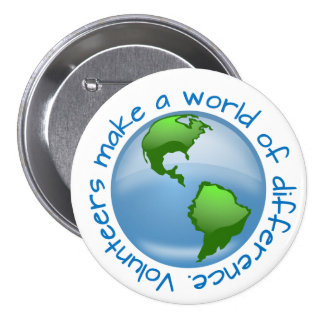 Volunteers Make a World of Difference Button