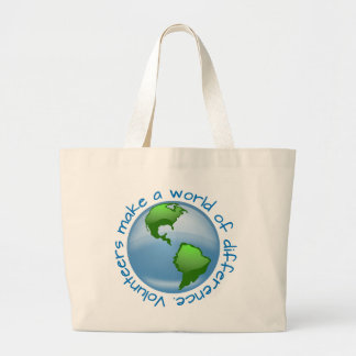 Volunteers Make a World of Difference Large Tote Bag