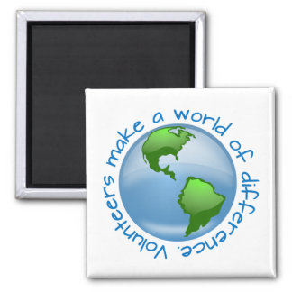 Volunteers Make a World of Difference Fridge Magnet
