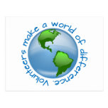 Volunteers Make a World of Difference Postcard