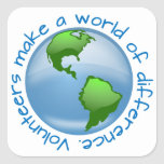 Volunteers Make a World of Difference Sticker
