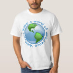 Volunteers make a world of difference tee shirts