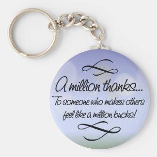 Volunteers make others feel like a million bucks key chains