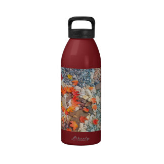 Volunteers Save the World! gifts Holidays Heart Reusable Water Bottle