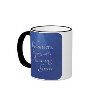 Volunteers share God's amazing grace Ringer Coffee Mug