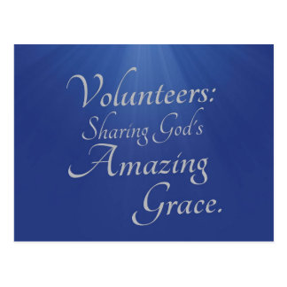 Volunteers share God's amazing grace Postcard