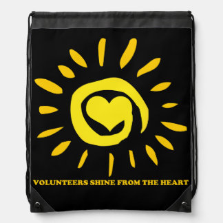 Volunteers shine from the heart drawstring bag