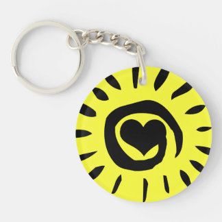 Volunteers shine from the heart light up the world keychain