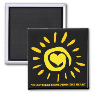 Volunteers shine from the heart light up the world magnet