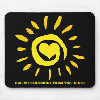 Volunteers shine from the heart light up the world mouse pad