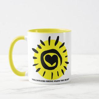 Volunteers shine from the heart light up the world mug