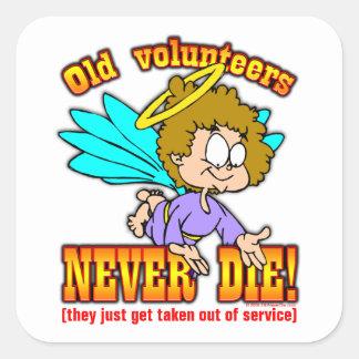 Volunteers Square Sticker
