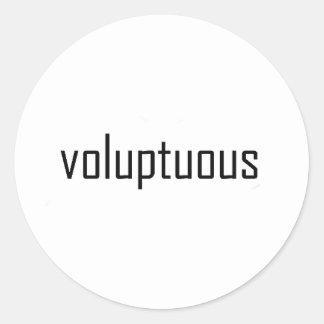voluptuous classic round sticker