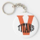 Volusia Titans Football And Cheer Key Chain