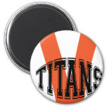 Volusia Titans Football And Cheer Refrigerator Magnets