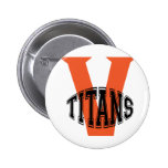 Volusia Titans Football And Cheer Pinback Button