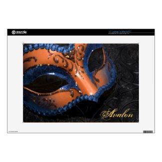 """Voluta anaranjada 15"""" de la mascarada piel del ord calcomanías para 38,1cm portátiles"""