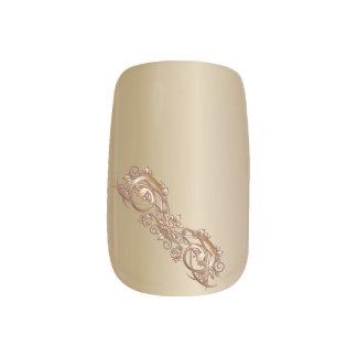 Voluta de cobre - dedo 2 pegatinas para uñas