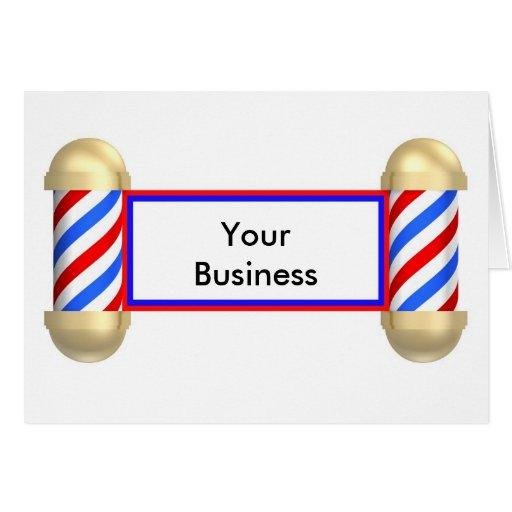 Voluta de la barbería felicitación