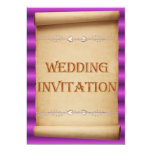 Voluta de la invitación del boda. Invitación a