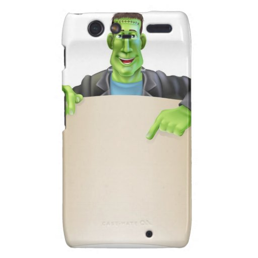 Voluta de la muestra de Frankenstein Halloween Droid RAZR Carcasas