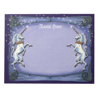 Voluta de la púrpura de los unicornios libretas para notas