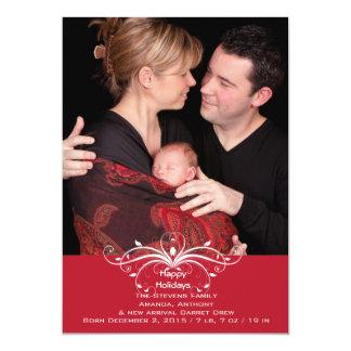 Voluta de moda - tarjeta del día de fiesta de la invitación 12,7 x 17,8 cm