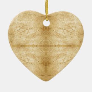Voluta de papel antigua del vintage adorno de cerámica en forma de corazón