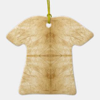 Voluta de papel antigua del vintage adorno de cerámica en forma de camiseta