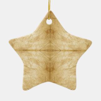 Voluta de papel antigua del vintage adorno de cerámica en forma de estrella