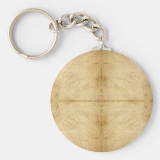 Voluta de papel antigua del vintage llavero redondo tipo pin