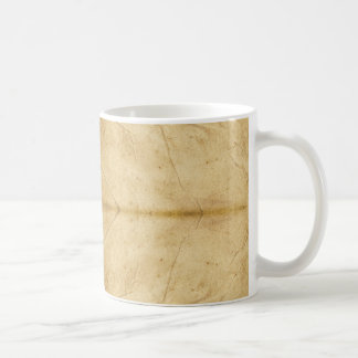 Voluta de papel antigua del vintage taza básica blanca