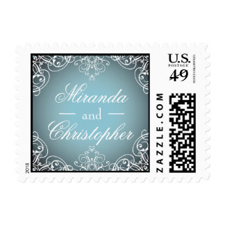 Voluta del cuento de hadas personalizada casando sello postal