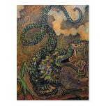 Voluta del dragón, postal japonesa del arte