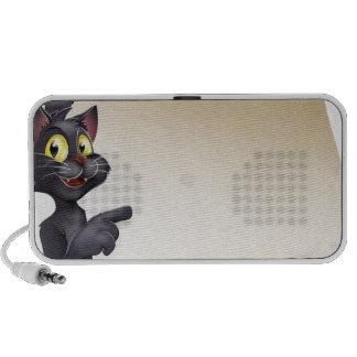 Voluta del gato de Halloween iPod Altavoces