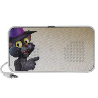 Voluta del gato de la bruja de Halloween PC Altavoces