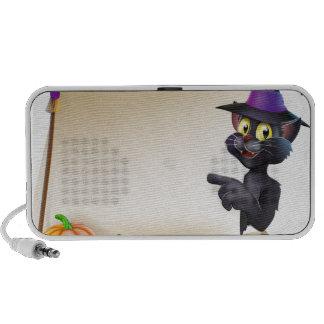 Voluta del gato negro de Halloween iPod Altavoz