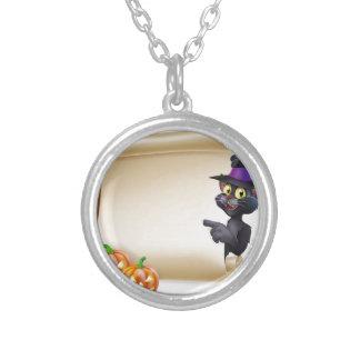 Voluta del gato negro de Halloween Colgante
